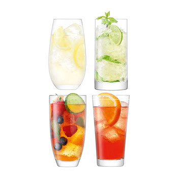 Lulu Highball Glasses - Set of 4