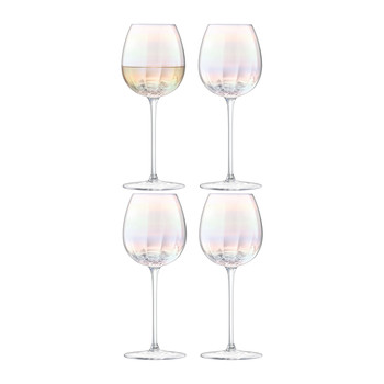 Pearl White Wine Glass - Set of 4