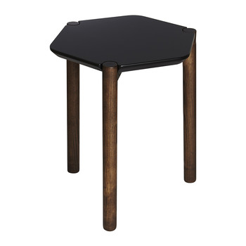 Lexy Side Table - Black/Walnut