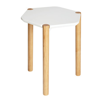 Lexy Side Table - White/Natural
