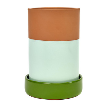 Wine Cooler with Base - Green Mint
