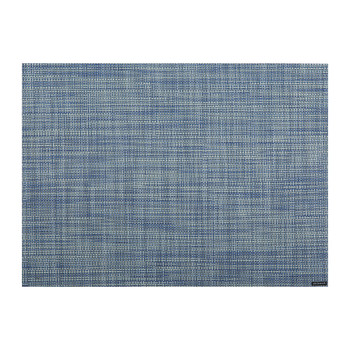 Mini Basketweave Rectangle Placemat - Chambray