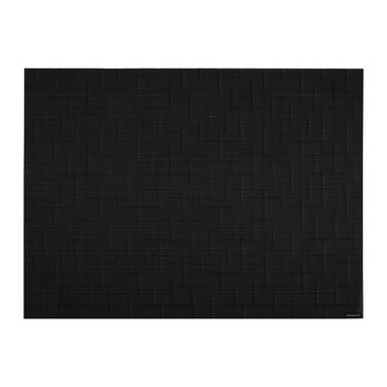 Bamboo Rectangle Placemat - Jet Black