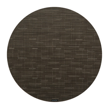 Bamboo Round Placemat - Chocolate