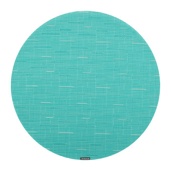 Bamboo Round Placemat - Teal