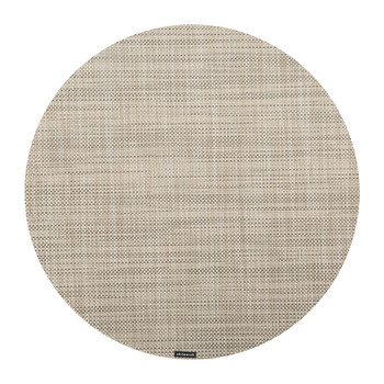 Mini Basketweave Round Placemat - Linen