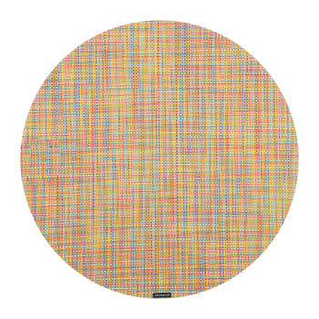 Mini Basketweave Round Placemat - Confetti