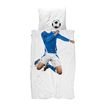 Football Champ Single Duvet Set - Blue