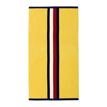 Velvet Start Beach Towel - Yellow