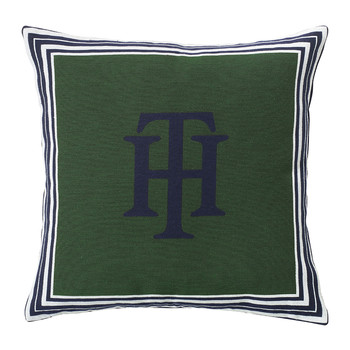 Jacquard Marine Cushion - 40x40cm - Green