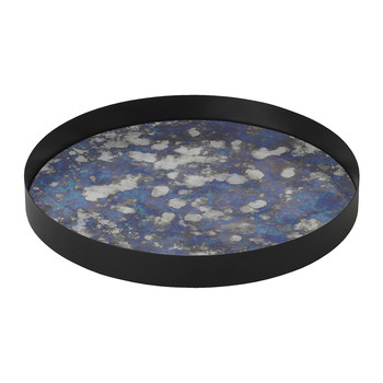 Round Coupled Tray - Blue - Large