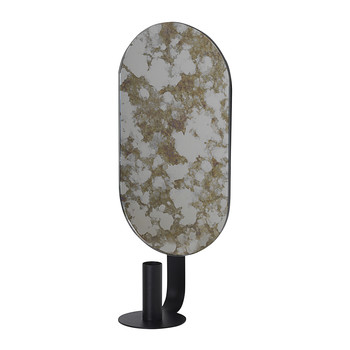 Oval Coupled Candle Holder - Moss Green