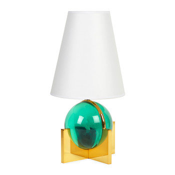 Globo Vanity Lamp - Brass/Green