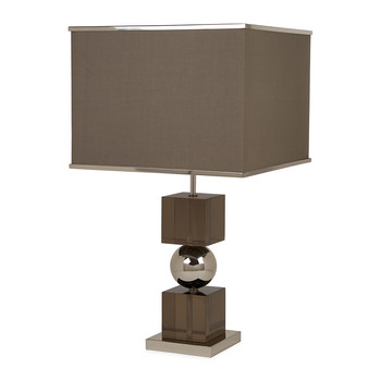 Jacques Stacked Table Lamp - Stainless Steel/Smoke