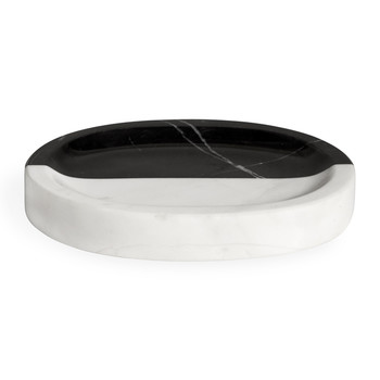 Canaan Soap Dish - Black/White Marble