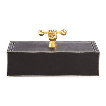 Barbell Leather Box
