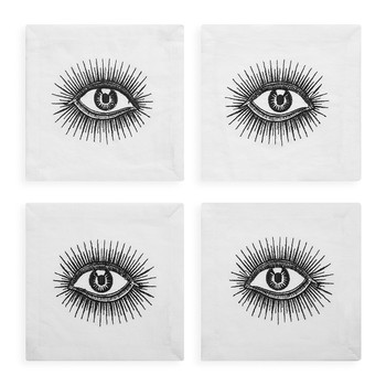 Cocktail Napkin - Set of 4 - Eyes