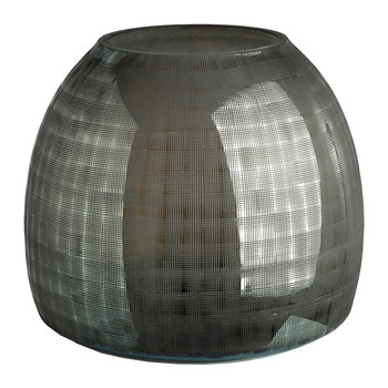 Checkered Grey Vase