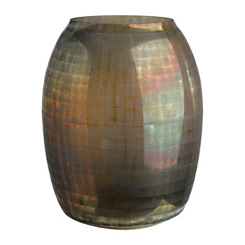 Checkered Brown Vase