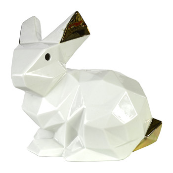 Cubic Rabbit Money Box - Gold