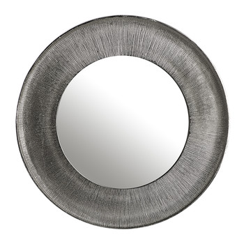 Miroir Rond Lotus - Nickel