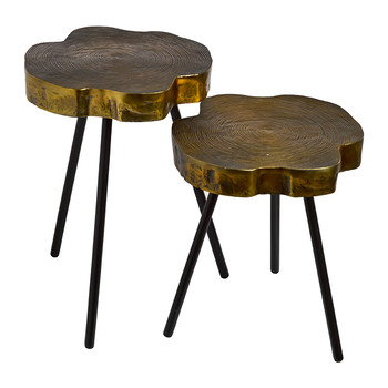 Pols Potten - Table d'Appoint Rondelle d'Arbre - Lot de 2
