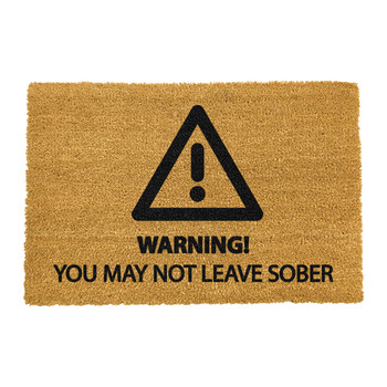 Sober Warning Door Mat