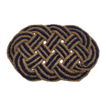 Lover's Knot Door Mat - Blue