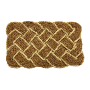 Lover's Knot Door Mat - Cream