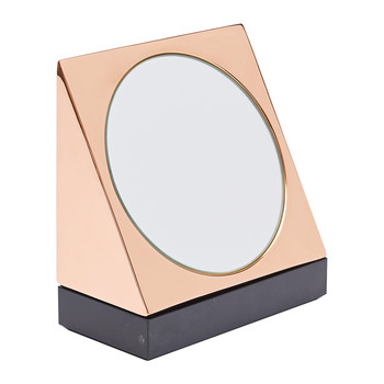 Lid Wedge Mirror with Base