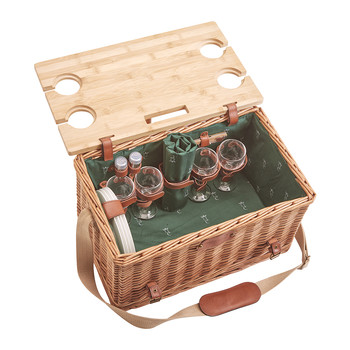 Saint-Honore Picnic Basket - 4 Person - Green
