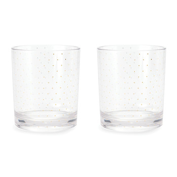 Petite Gold Dot Acrylic Glasses - Set of 2