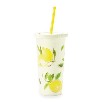 Tumbler with Straw - Lemon