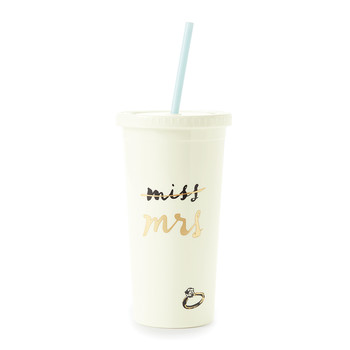 Tumbler with Straw - Miss to Mrs