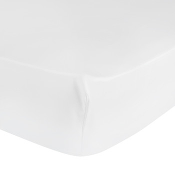 Triomphe Sateen Fitted Sheet - White