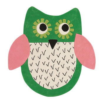Little Owl Emerald Rug
