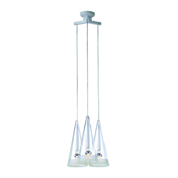 Fuchsia 3 Ceiling Light - White