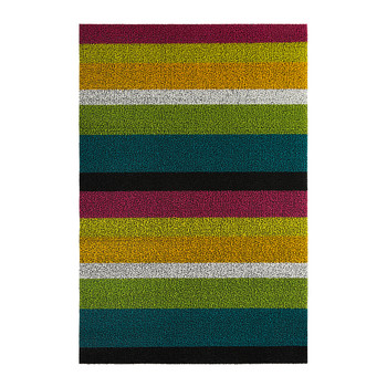Large Stripe Shag Rug - Multi