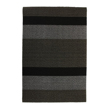Large Stripe Shag Rug - Black/Grey
