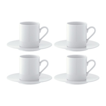 Dine Espresso Cups & Saucers - Set of 4
