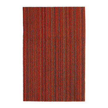Skinny Stripe Shag Rug - Orange