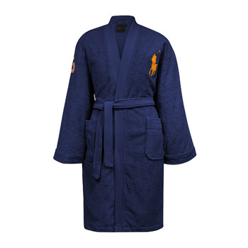 Big Polo Pony Robe - Navy - M