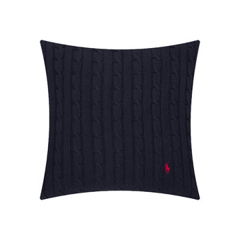 Cable Cushion Cover - 45x45cm - Navy