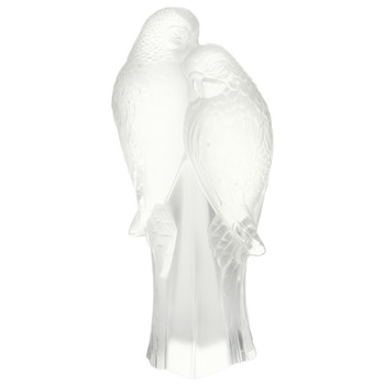 Clear Two Parakeets Figure