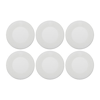 Lizzard Dinner Plates - Set of 6 - Platinum