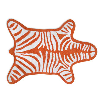 Zebra Bath Mat - Orange