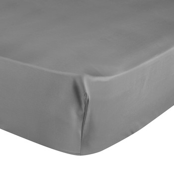 Triomphe Sateen Fitted Sheet - Platinum