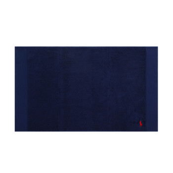 Small Logo Player Bath Mat - Navy with Red