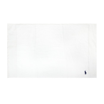 Small Logo Player Bath Mat - White