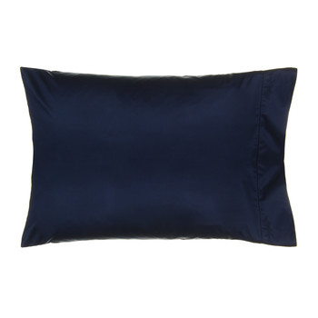 Langdon Solid Pillowcases - Navy - Set of 2 - 50x75cm